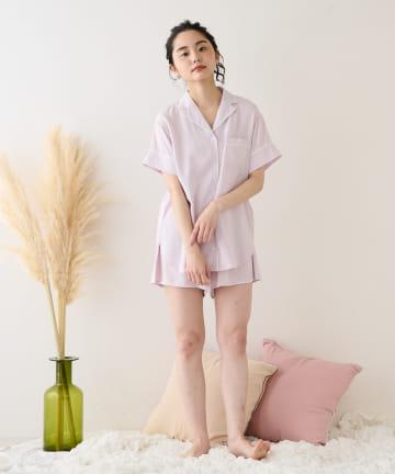 TERRITOIRE(テリトワール) 【しあわせな眠りを】LADIES 快眠リラックスパジャマ 半/半セット