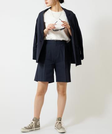 COLLAGE GALLARDAGALANTE(コラージュ ガリャルダガランテ) 【清涼感ある面持ち】レーヨン麻ショートパンツ
