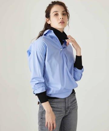 OUVRAGE CLASSE(ウヴラージュクラス) オーバーサイズカシュクールシャツ