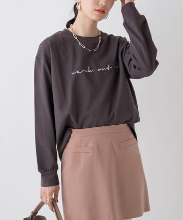 Loungedress(ラウンジドレス) レタリングロングTシャツ