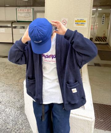 WHO'S WHO gallery(フーズフーギャラリー) 【KOOKY'N/クーキー】 ワッフルジップカーディガン