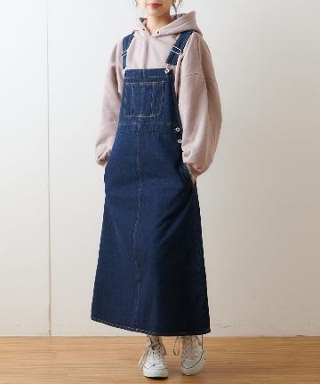 NICE CLAUP OUTLET(ナイスクラップ アウトレット) デニムジャンバースカート