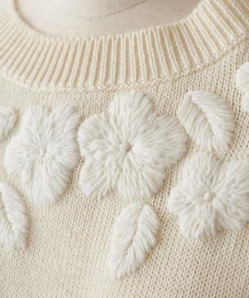 BEARDSLEY(ビアズリー) サイドリボン刺繍ベスト