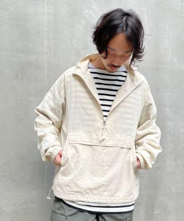 CIAOPANIC TYPY(チャオパニックティピー) 光沢リネンアノラックスタンドジャケット
