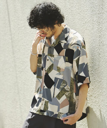 CPCM(シーピーシーエム) アソート柄半袖開襟シャツ【着用動画あり】