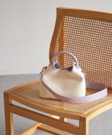 La boutique BonBon(ラブティックボンボン) 【Elleme(エレメ)】キャンバスレザートリミングバッグ