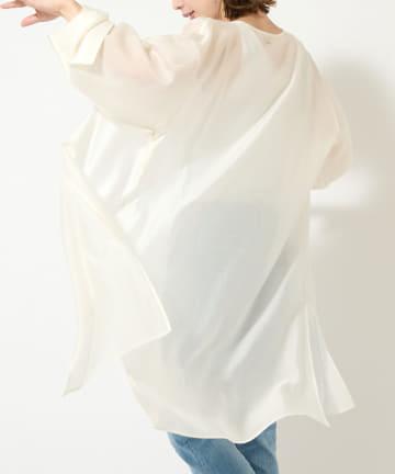 COLLAGE GALLARDAGALANTE(コラージュ ガリャルダガランテ) 【上品際立つシャイニー】シアーガウンブラウス