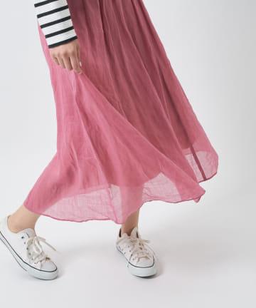 COLLAGE GALLARDAGALANTE(コラージュ ガリャルダガランテ) 【麗らかにふわり】ラミーロングフレアスカート