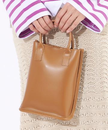OUTLET premium(アウトレット プレミアム) 【シンプルで使いやすい】スクエアミニショルダーバッグ