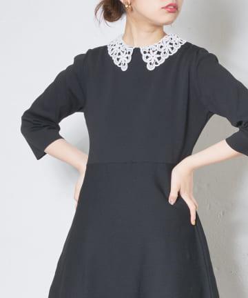 natural couture(ナチュラルクチュール) レース衿つきリブインナータンク