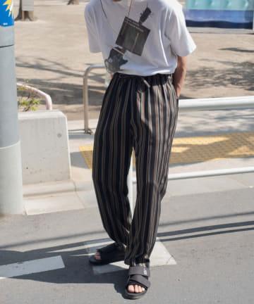Kastane(カスタネ) 【WHIMSIC】MULTI COLOR STRIPE COOK PANTS