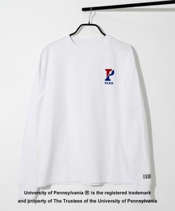 COLONY 2139(コロニー トゥーワンスリーナイン) カレッジUSAコットン天竺長袖Tシャツ/ロンT (ユニセックス可)