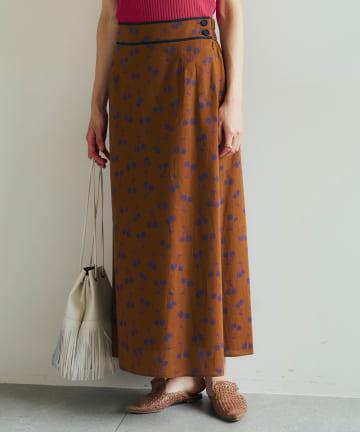 La boutique BonBon(ラブティックボンボン) 【COZスタイル・MUVEIL(ミュベール)】チェリープリントスカート