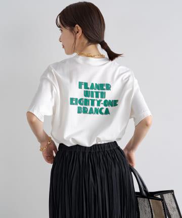 Loungedress(ラウンジドレス) 【+81BRANCA/ハチイチブランカ】FLANER Print Tシャツ