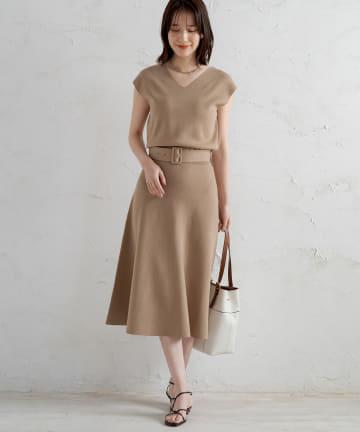 Loungedress(ラウンジドレス) 総針フレンチワンピース