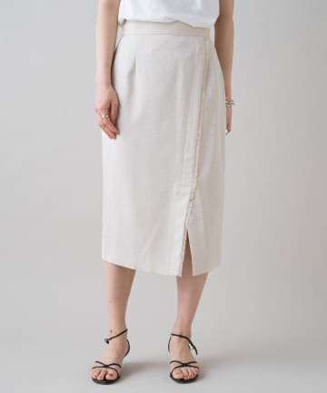 Loungedress(ラウンジドレス) リネンライクタイトスカート