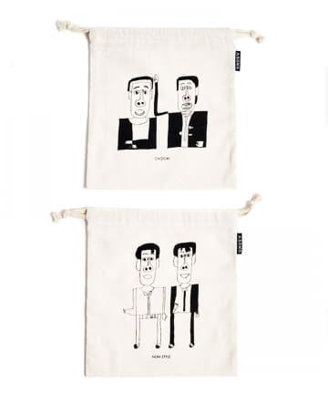 ASOKO(アソコ) 【YOSHIMOTO】巾着2枚セット<DARE?>