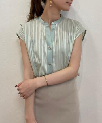 Loungedress(ラウンジドレス) カラミストライプシャツ