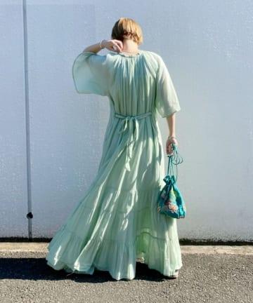 SHENERY(シーナリー) 【WEB限定】(ne Quittez pas) コットンボイルティアードドレス