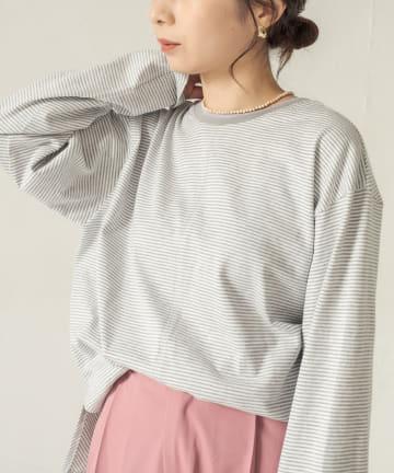 CAPRICIEUX LE'MAGE(カプリシュレマージュ) カラーラインボーダーTシャツ