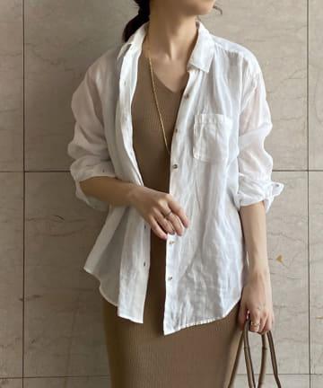Loungedress(ラウンジドレス) 【定番人気】リネンバックタイシャツ