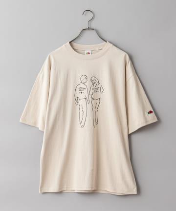 CIAOPANIC(チャオパニック) 【FRUIT OF THE LOOM】 長場雄 アートプリントTシャツ