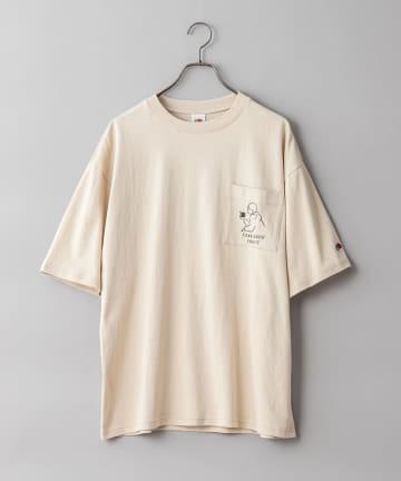 CIAOPANIC(チャオパニック) 【FRUIT OF THE LOOM】長場雄 アートプリントポケットTシャツ