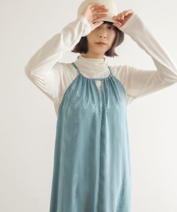 Lui's(ルイス) ツリープリントホルターキャミドレス