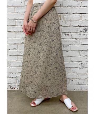 Loungedress(ラウンジドレス) フラワーナロースカート