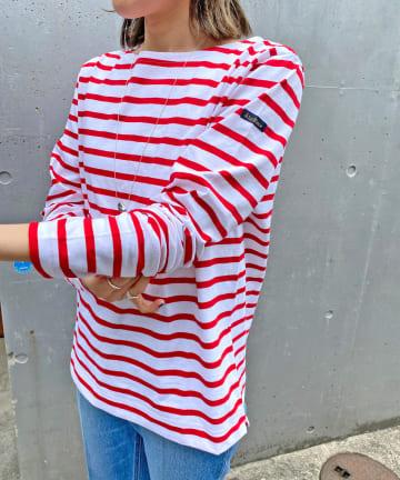 Omekashi(オメカシ) LeMinor マリンボーダーロングTシャツ
