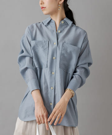 Loungedress(ラウンジドレス) シャンブレーシアーシャツ