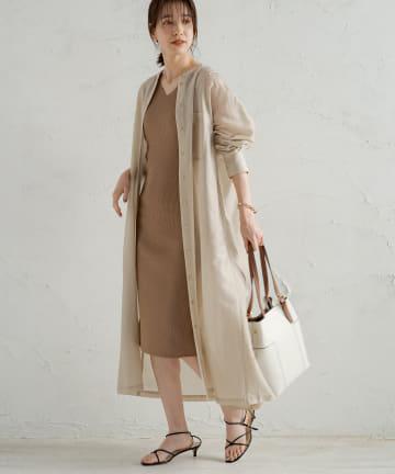 Loungedress(ラウンジドレス) カールマイヤーシャツワンピース