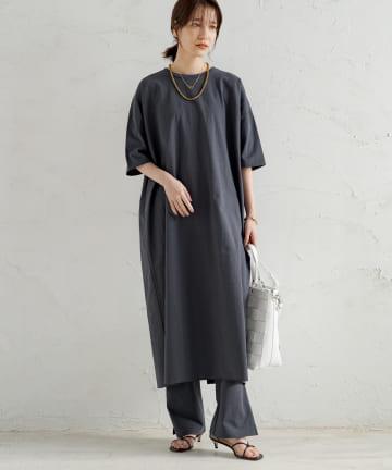 Loungedress(ラウンジドレス) 【WEB限定】プリントロングドレス