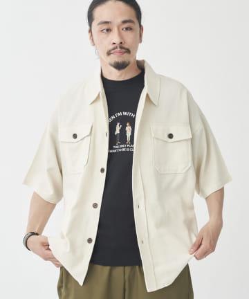 CPCM(シーピーシーエム) 綿麻半袖CPOシャツジャケット