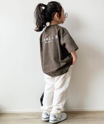 CIAOPANIC TYPY(チャオパニックティピー) 【KIDS】オープンエンド天竺 カレッジバックプリント5分袖Tee