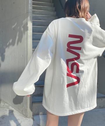 who's who Chico(フーズフーチコ) NASAバックロゴスウェット