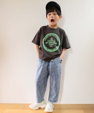 CIAOPANIC TYPY(チャオパニックティピー) 【KIDS】オープンエンド天竺 プリント半袖ドロップショルダーTee