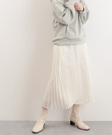 natural couture(ナチュラルクチュール) キラキラシアープリーツスカート