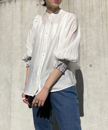CAPRICIEUX LE'MAGE(カプリシュレマージュ) 柄カフスシャツ