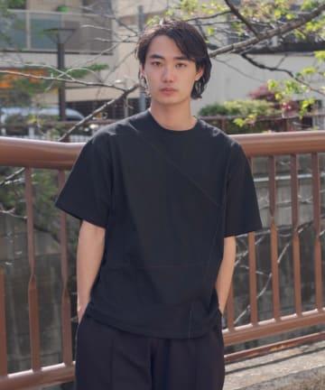 Kastane(カスタネ) 【WHIMSIC】FLAT SEAM LINE T-SHIRTS