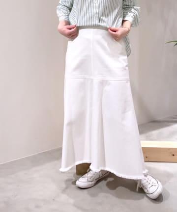 BONbazaar(ボンバザール) 《セットアップ推奨》11ozデニムフリンジスカート