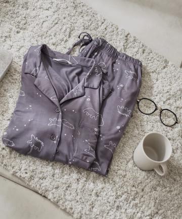 TERRITOIRE(テリトワール) 【ひんやり涼しい】冷感シロクマパジャマ 長袖上下セット