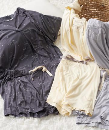 TERRITOIRE(テリトワール) 【ひんやり涼しい】ほっこりしろくまパジャマ 半袖セット