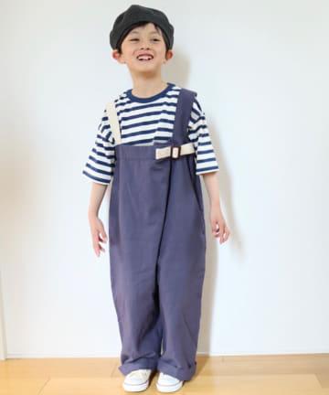CIAOPANIC TYPY(チャオパニックティピー) 【KIDS】コットンリネン サロペット
