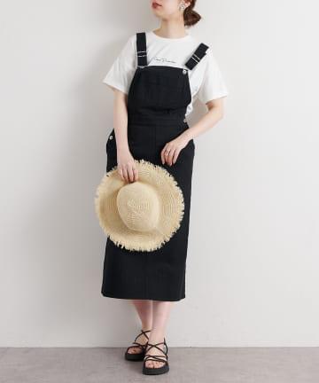 natural couture(ナチュラルクチュール) 大人ジャンバースカート