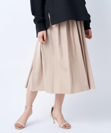 un dix cors(アンディコール) 【《2WAYで着回し力抜群》洗える】リバーシブルタフタギャザースカート