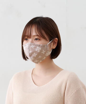 Daily russet(デイリー ラシット) 【デオファクター®加工の不織布を使用】綿プリント布マスク