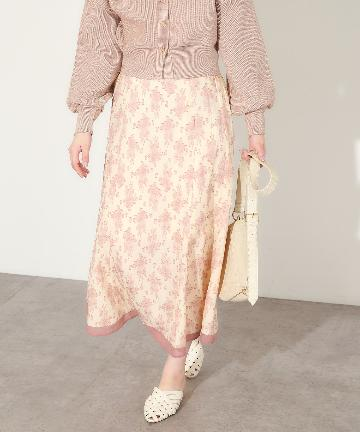 natural couture(ナチュラルクチュール) 配色ジャガードスカート
