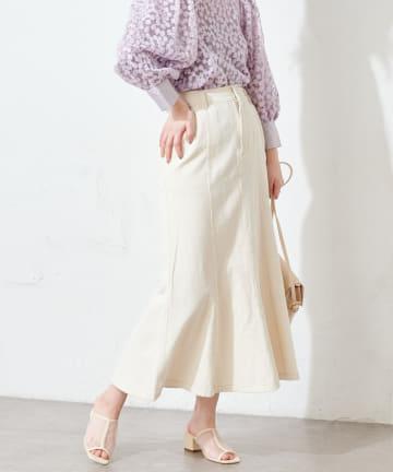 natural couture(ナチュラルクチュール) マーメイドフレアスカート