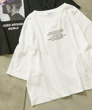 COLONY 2139(コロニー トゥーワンスリーナイン) 【2139 T】ショート丈Tシャツ(photo&message)